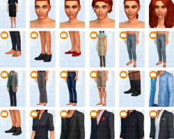 The Sims 4 Get to Work, The Sims 4 На работу CAS